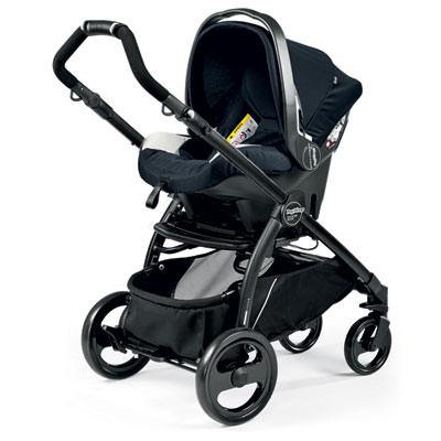 Pack poussette trio book plus pop up completo luxe blue Peg perego
