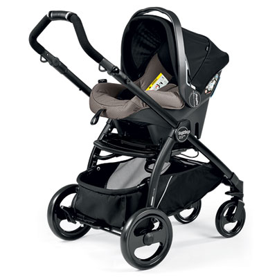 Pack poussette trio book plus pop up sportivo bloom beige Peg perego
