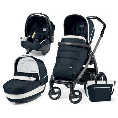 Pack poussette trio book plus s jet pop up completo luxe blue Peg perego