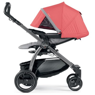 Pack poussette trio book plus s jet pop up completo breeze corail Peg perego
