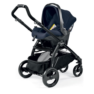 Pack poussette trio book plus pop up sportivo bloom navy Peg perego