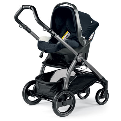 Pack poussette trio book s jet pop up completo luxe blue Peg perego