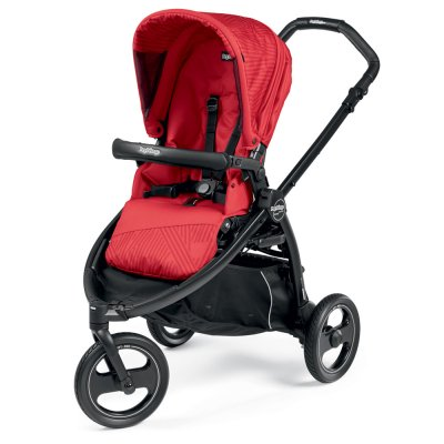Pack poussette trio book scout 3 roues pop up sportivo géo red Peg perego