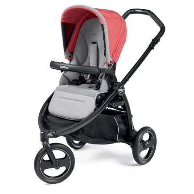 Pack poussette trio book scout 3 roues pop up completo breeze corail Peg perego