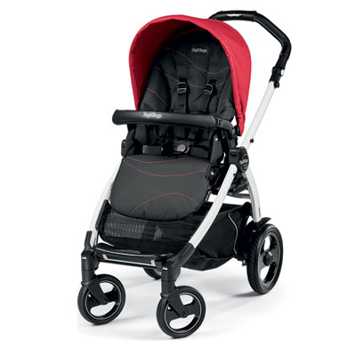 Pack poussette trio book 51 s black/white pop up sportivo bloom red Peg perego