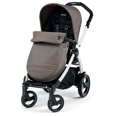 Pack poussette trio book 51 s black/white pop up sportivo bloom beige Peg perego
