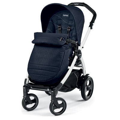 Pack poussette trio book 51 s black/white pop up sportivo bloom navy Peg perego