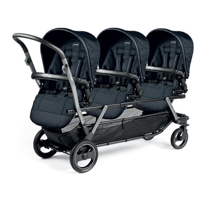 Poussette triple piroet pop up completo luxe blue night Peg perego