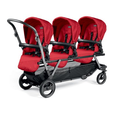 Poussette triple piroet pop up sportivo géo red Peg perego
