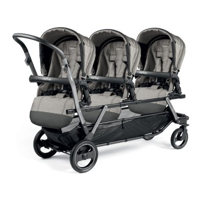 Poussette triple piroet pop up completo luxe grey Peg perego