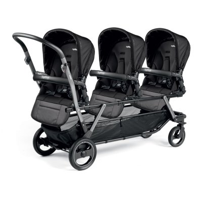Poussette triple piroet pop up completo breeze noir Peg perego