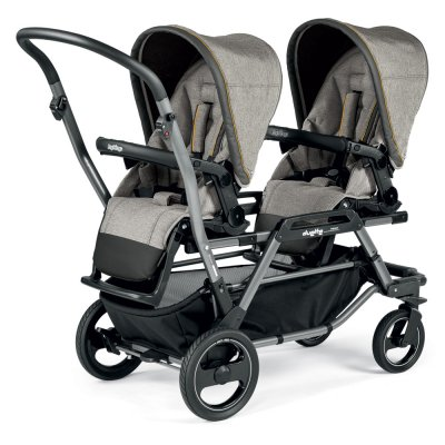 Poussette double duette piroet pop up completo luxe grey Peg perego