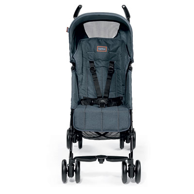 Poussette canne pliko mini classico blue denim Peg perego
