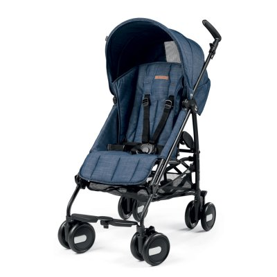 Poussette canne pliko mini urban denim Peg perego