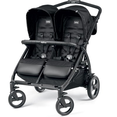 Poussette double book for two class black Peg perego