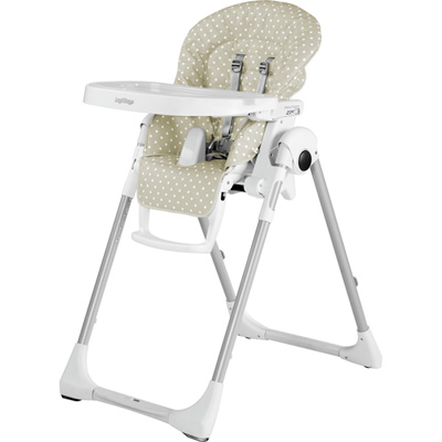 Chaise haute bébé prima pappa zero-3 baby dot beige Peg perego