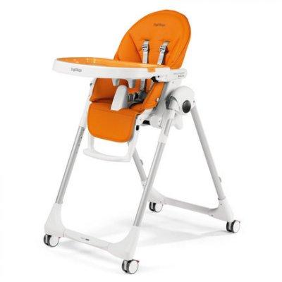 Chaise haute bébé follow me prima pappa arancia Peg perego
