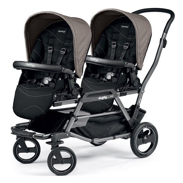 Poussette double duette piroet pop up bloom beige Peg perego