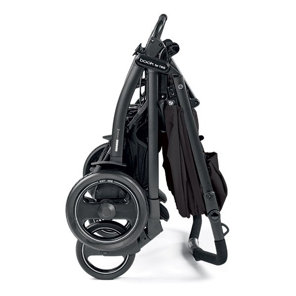 Poussette jumeaux book for two mod black Peg perego