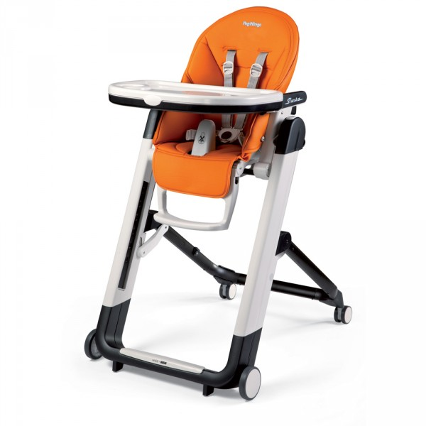 Chaise haute bébé siesta arancia Peg perego