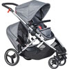Poussette double voyager grey marl Phil and teds