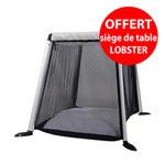 Lit parapluie traveller argent avec protection soleil + lobster offert pas cher
