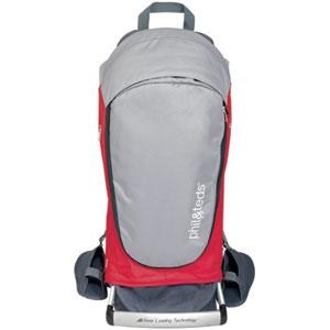 Porte bébé dorsal escape rouge/gris
