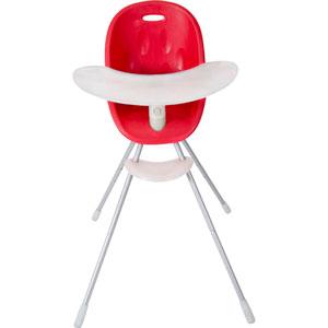 Chaise haute évpolutive poppy rouge