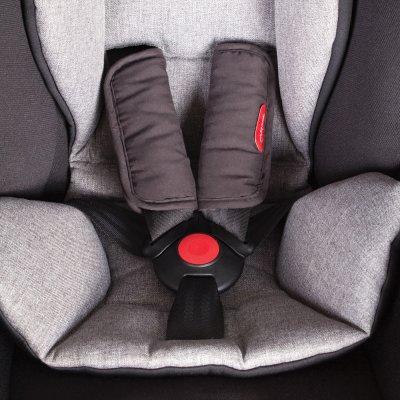Siège auto coque bébé alpha noir et gris - groupe 0 Phil and teds