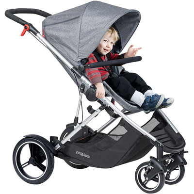 Poussette 4 roues voyager grey marl Phil and teds