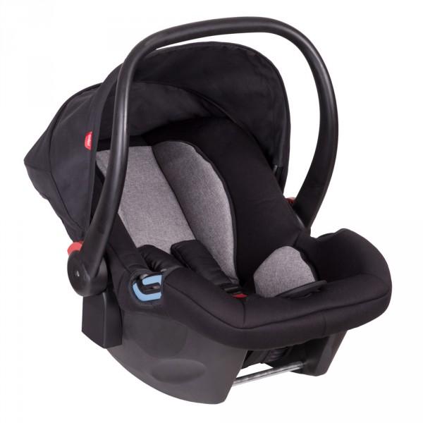 Siège auto coque bébé alpha noir et rouge - groupe 0 Phil and teds