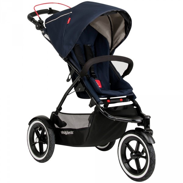 Poussette 3 roues sport midnight blue Phil and teds