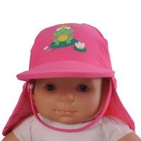 Casquette bébé anti-uv rainette 3-6 mois