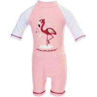 Combinaison de bain bébé couche clipsable intégrée flamingo 6-12 mois