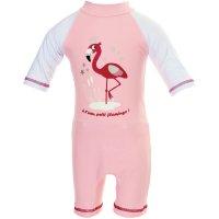 Combinaison de bain bébé couche clipsable intégrée flamingo 12-24 mois
