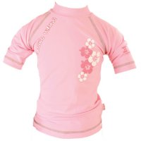 Tee-shirt anti-uv la petite vahinee rose 3-6mois
