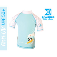 Tee-shirt anti-uv pingouin bleu 24-36mois
