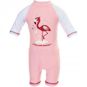 Combinaison de bain couche clipsable intégrée flamingo 6-12 mois ou 8-11kg