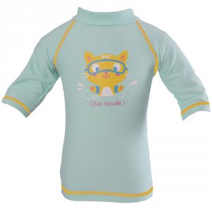 Tee-shirt bébé anti-uv chaton 6-12 mois