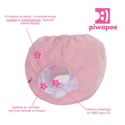 Maillot de bain couche flamingo 4-8 kg Piwapee