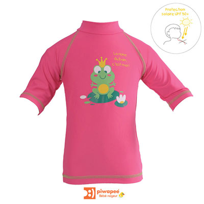 Tee-shirt de bain anti-uv rainette 6-12 mois Piwapee