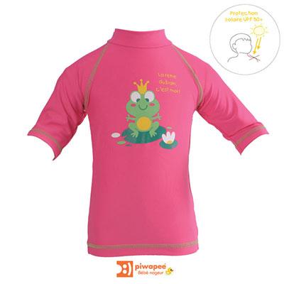 Tee-shirt de bain anti-uv rainette 12-24 mois Piwapee