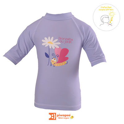 Tee-shirt de bain anti-uv papillon 3-6 mois Piwapee