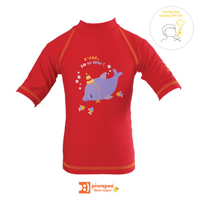 Tee-shirt de bain anti-uv dauphin 12-24 mois Piwapee
