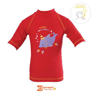Tee-shirt de bain anti-uv dauphin 24-36 mois Piwapee