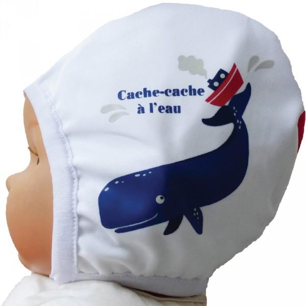 Bonnet de bain cachalot 3-6 mois Piwapee