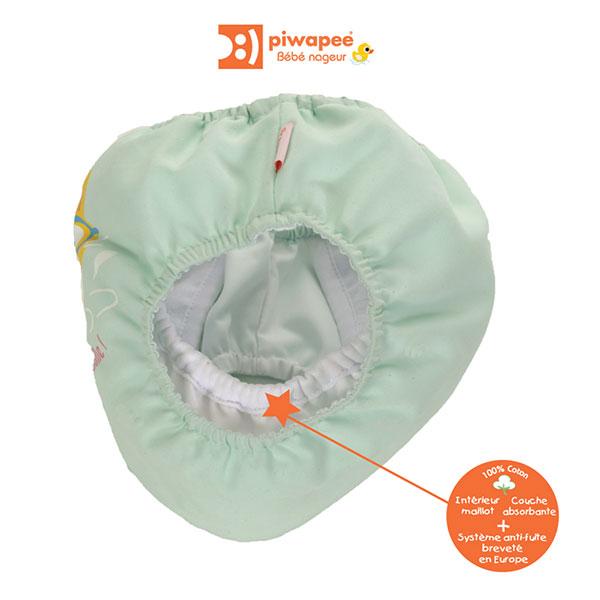 Maillot de bain bébé couche chaton 4-8 kg Piwapee