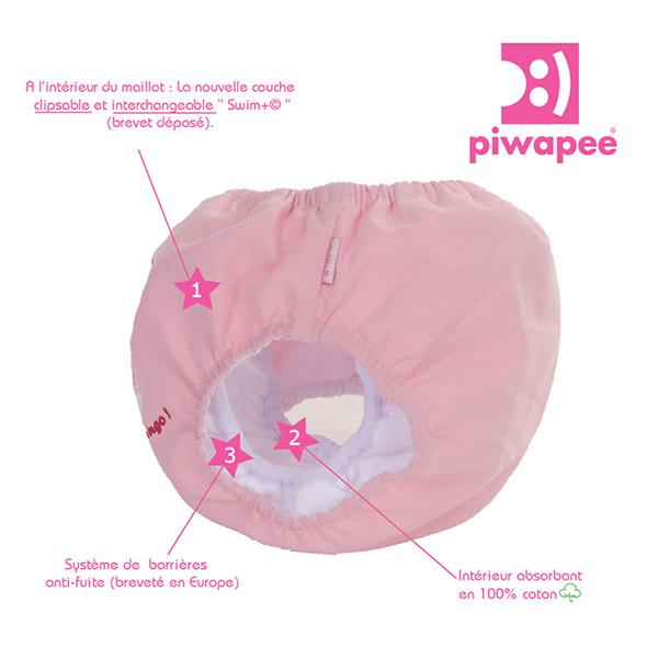 Maillot de bain bébé couche flamingo 11-14 kg Piwapee