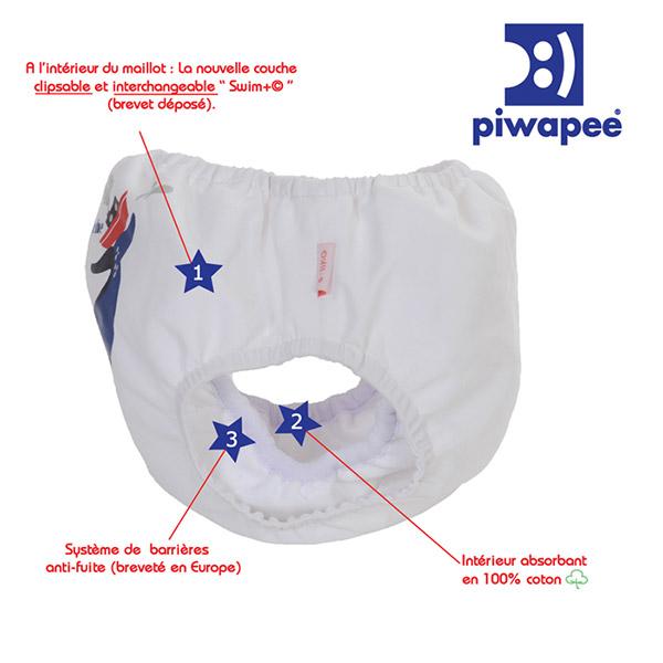 Maillot de bain bébé couche cachalot 11-14 kg Piwapee