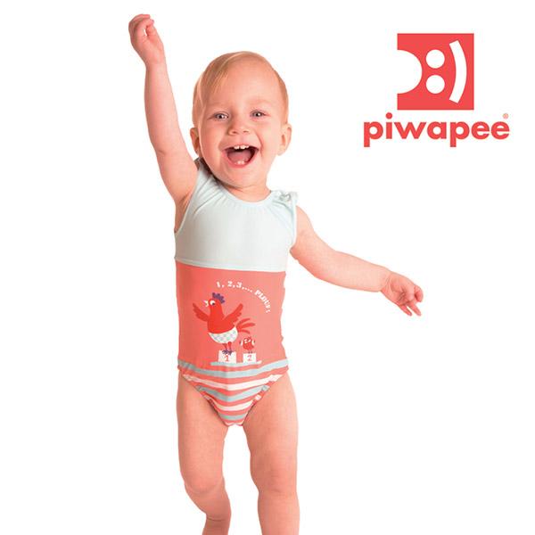 Maillot de bain bébé couche 1 pièce cocotte 8-11 kg Piwapee
